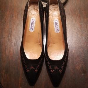 Bally Vintage black/brown 2.75heel 7.5 light wear